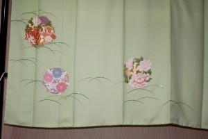 完全お誂え・オーダー訪問着「花の丸」裾模様