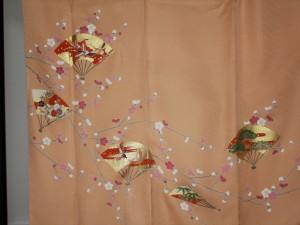 完全お誂え・オーダー訪問着「梅に扇散らし」裾模様