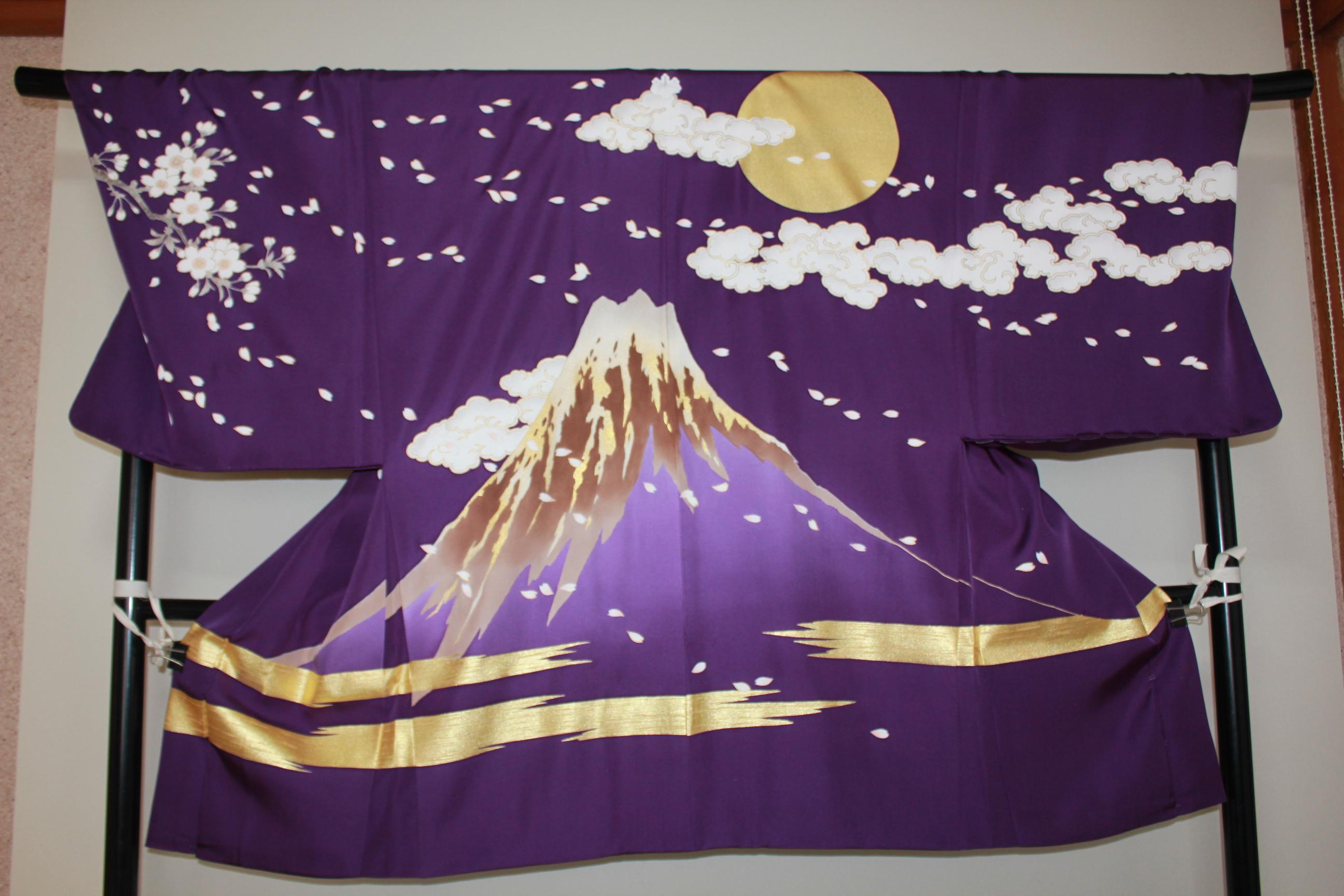 オーダー絵羽織、富士に桜